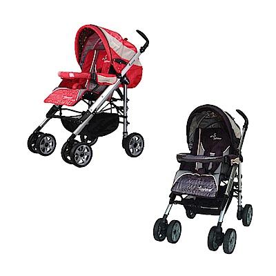 湯尼熊 Tony Bear 歐風RV時尚豪華嬰兒推車(黑/紅)