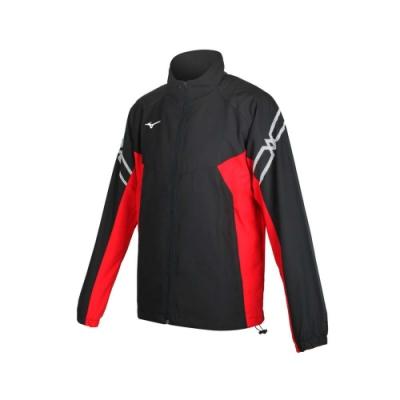MIZUNO 男 平織運動外套 黑紅白