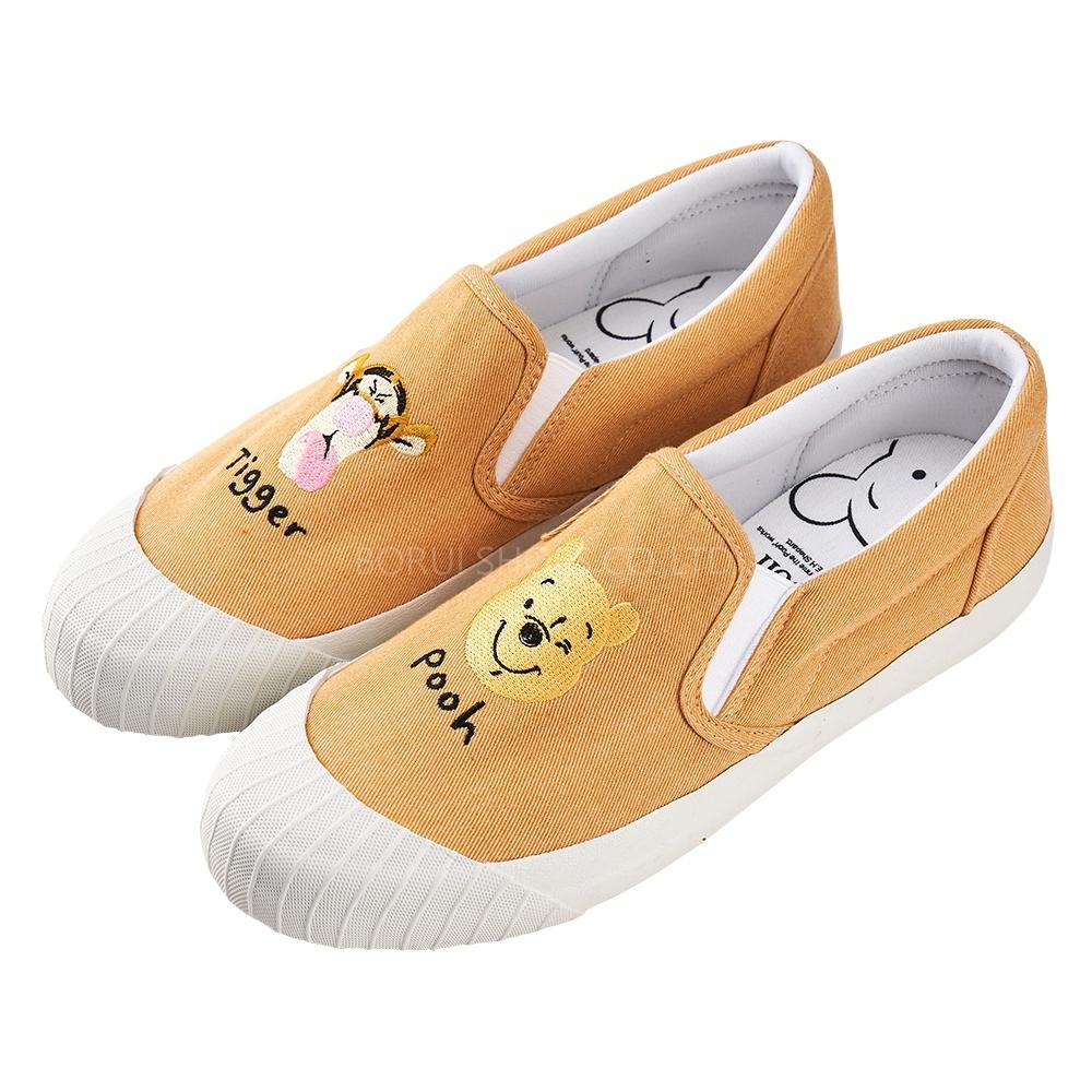 迪士尼親子鞋 小熊維尼 經典帆布休閒餅乾鞋-黃(柏睿鞋業)