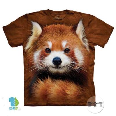 摩達客-美國The Mountain 紅貓熊小熊貓 純棉環保短袖T恤