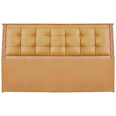 綠活居 艾爾利時尚3.5尺水鑽皮革單人床頭片(三色可選)-105x12x96cm免組