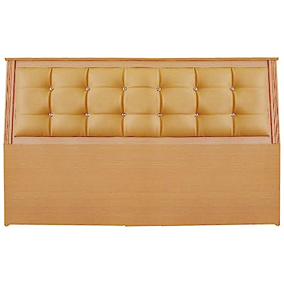 綠活居 艾爾利時尚5尺水鑽皮革雙人床頭片(三色可選)-153x12x96cm免組