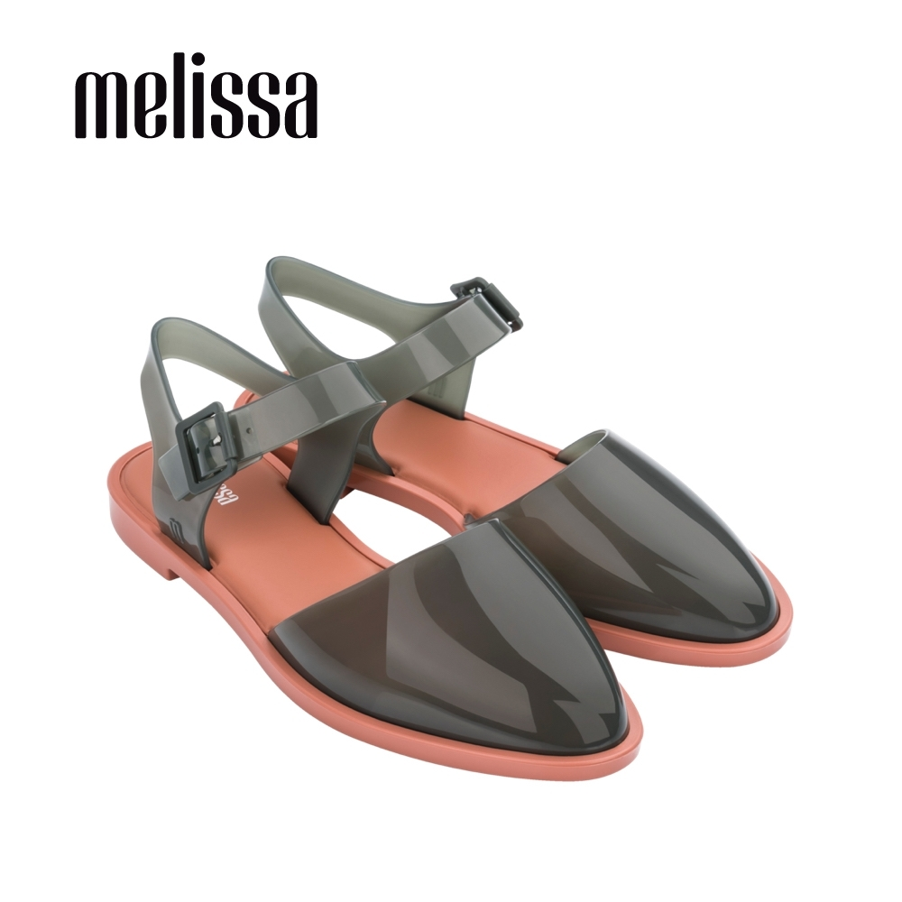 Melissa KIRA繞踝微尖頭後空平底鞋-綠