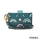 FOSSIL Mini Tab Wallet 系列多層小夾-綠色拱門