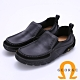 Amber 寬楦頭直套式真皮休閒鞋-黑色 product thumbnail 1