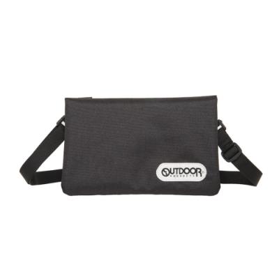 【OUTDOOR】二用隨身側背包-黑色 OD291104BK