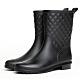 韓國KW美鞋館 名媛簡約樸實晴雨二用雨靴短筒靴-黑 product thumbnail 1