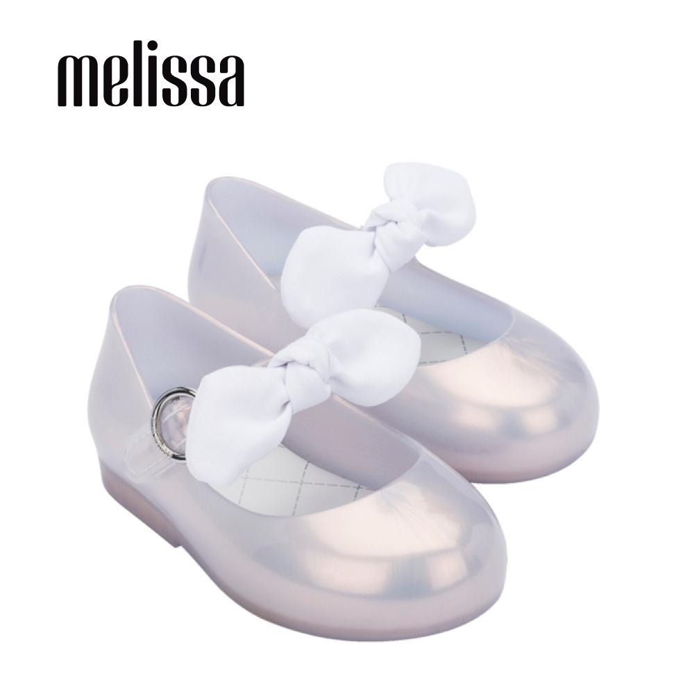 Melissa SWEET LOVE公主風蝴蝶結娃娃鞋 寶寶款-珍珠白
