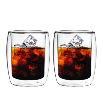 FUSHIMA富島 英倫系列雙層耐熱玻璃杯260ML*2入