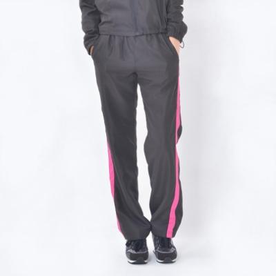 【V.TEAM】防潑水風衣長褲-女款黑