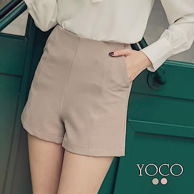東京著衣-yoco 美臀定番款純色修身短褲-S.M.L(共二色)