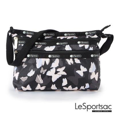 LeSportsac - Standard橫式三層拉鍊斜背包 (蝴蝶剪影)