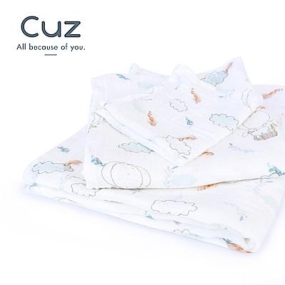 【Cuz】掰掰地球(紗布巾)115cm