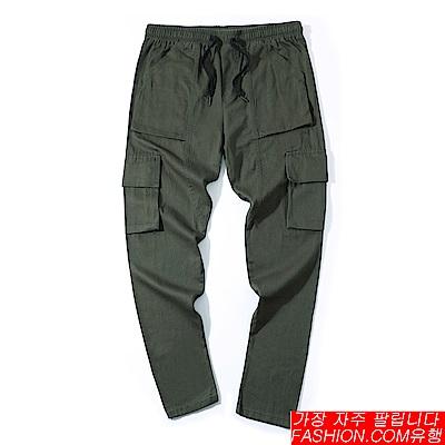 FASHION館 重磅工裝機能六口袋工作褲 阿美卡機Amekaji