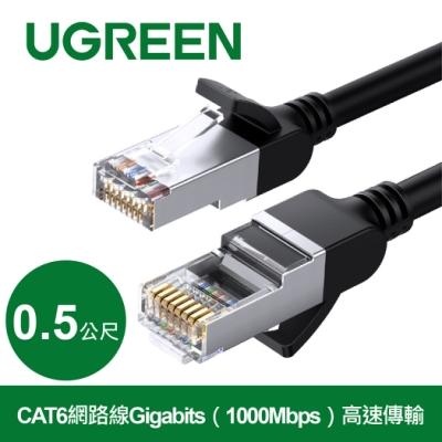 綠聯 CAT6網路線Gigabits(1000Mbps)高速傳輸 圓線 純銅金屬版 (0.5公尺)