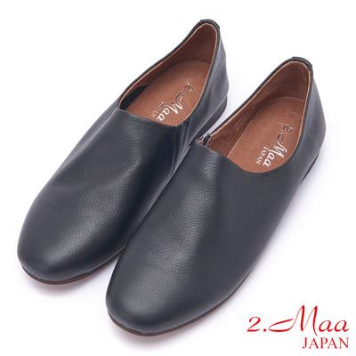 2.Maa 好穿好走柔軟羊皮懶人鞋 - 黑