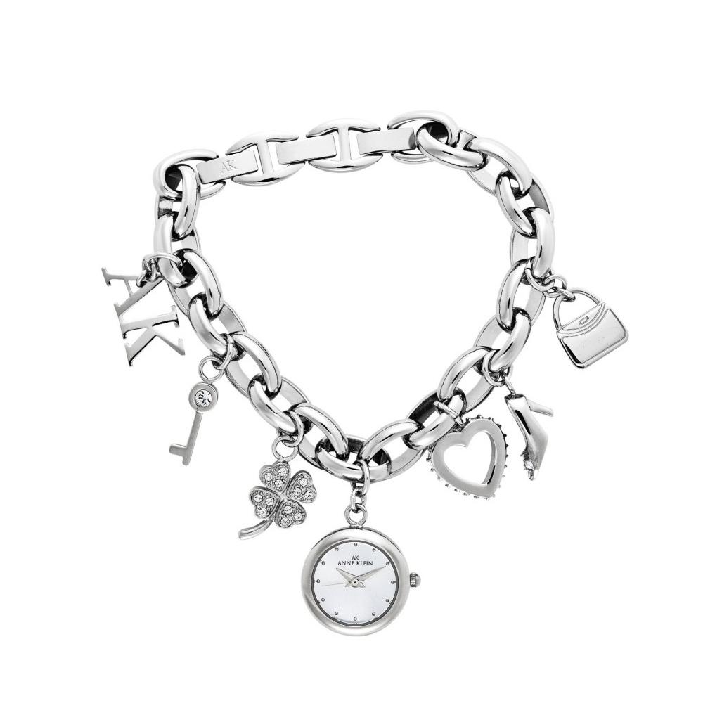 Anne Klein 皇室童話夢幻逸品手鍊錶-銀色x20mm AK-7605CHRM
