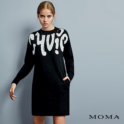 MOMA 字母緹花長版上衣