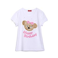 WHY AND 1/2 普普熊棉質萊卡T恤 11Y~14Y以上