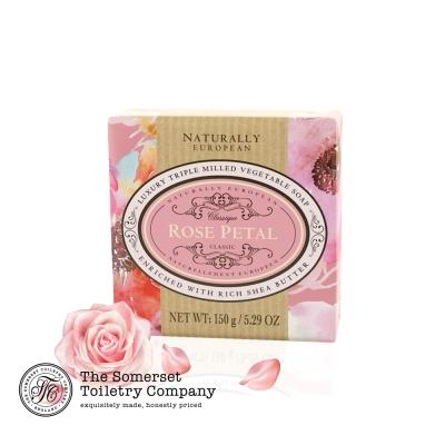 Somerset 賽玫特 英國自然歐洲乳油木香皂150g-玫瑰花瓣