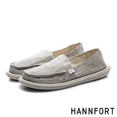 HANNFORT COZY 無印自然感懶人鞋-女-舒適卡其