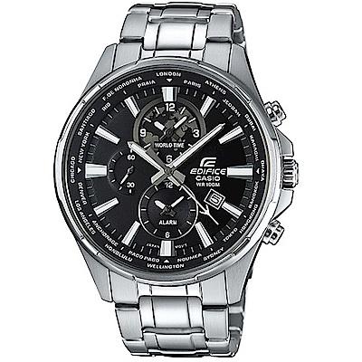 CASIO卡西歐EDIFICE三針三眼簡約腕錶(EFR-304D-1A)