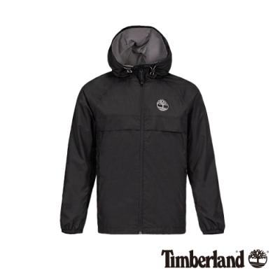 Timberland 男款黑色戶外休閒連帽抽繩外套 A1OM2