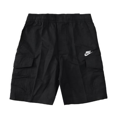 Nike 短褲 Unlined Utility Shorts 男款 NSW 運動休閒 膝上 口袋 穿搭 黑 白 DD4729-010