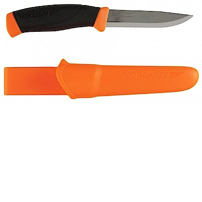 MORAKNIV Companion F Serrated 不鏽鋼直刀 鋸齒刀刃 橘
