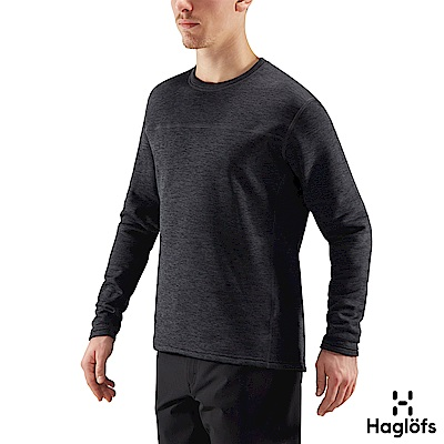 Haglofs 男 Torborg 刷毛長袖圓領衫 石板色
