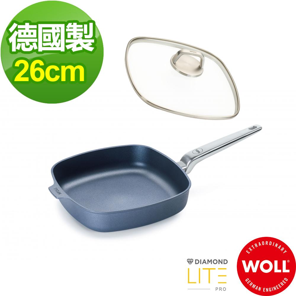 德國 WOLL Diamond Lite Pro 鑽石系列26cm 方形平底鍋(含蓋)