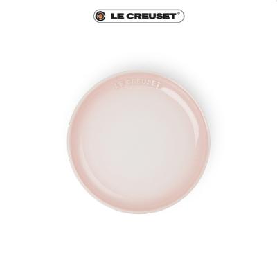 [任4件6折] LE CREUSET 瓷器花蕾系列餐盤17cm-貝殼粉