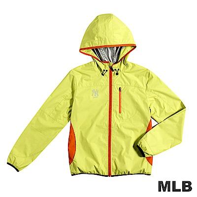 MLB-紐約洋基隊抗UV薄風衣外套-黃(女)