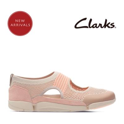 Clarks 運動行風 王牌三瓣風潮超輕量透氣便鞋 淺粉色