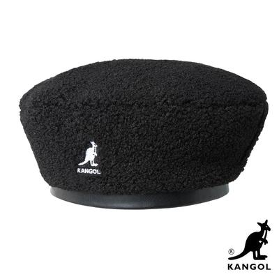 KANGOL-NYLON PLUSH 雙面貝蕾帽-黑色