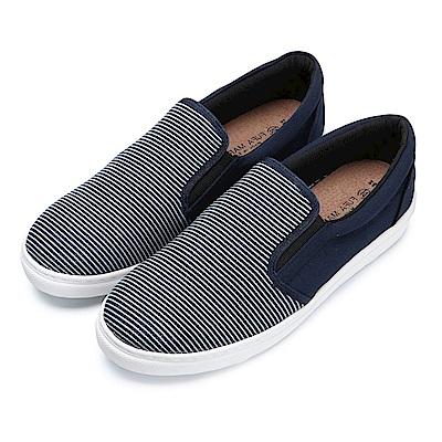BuyGlasses 條紋和素面激情邂逅懶人鞋-藍