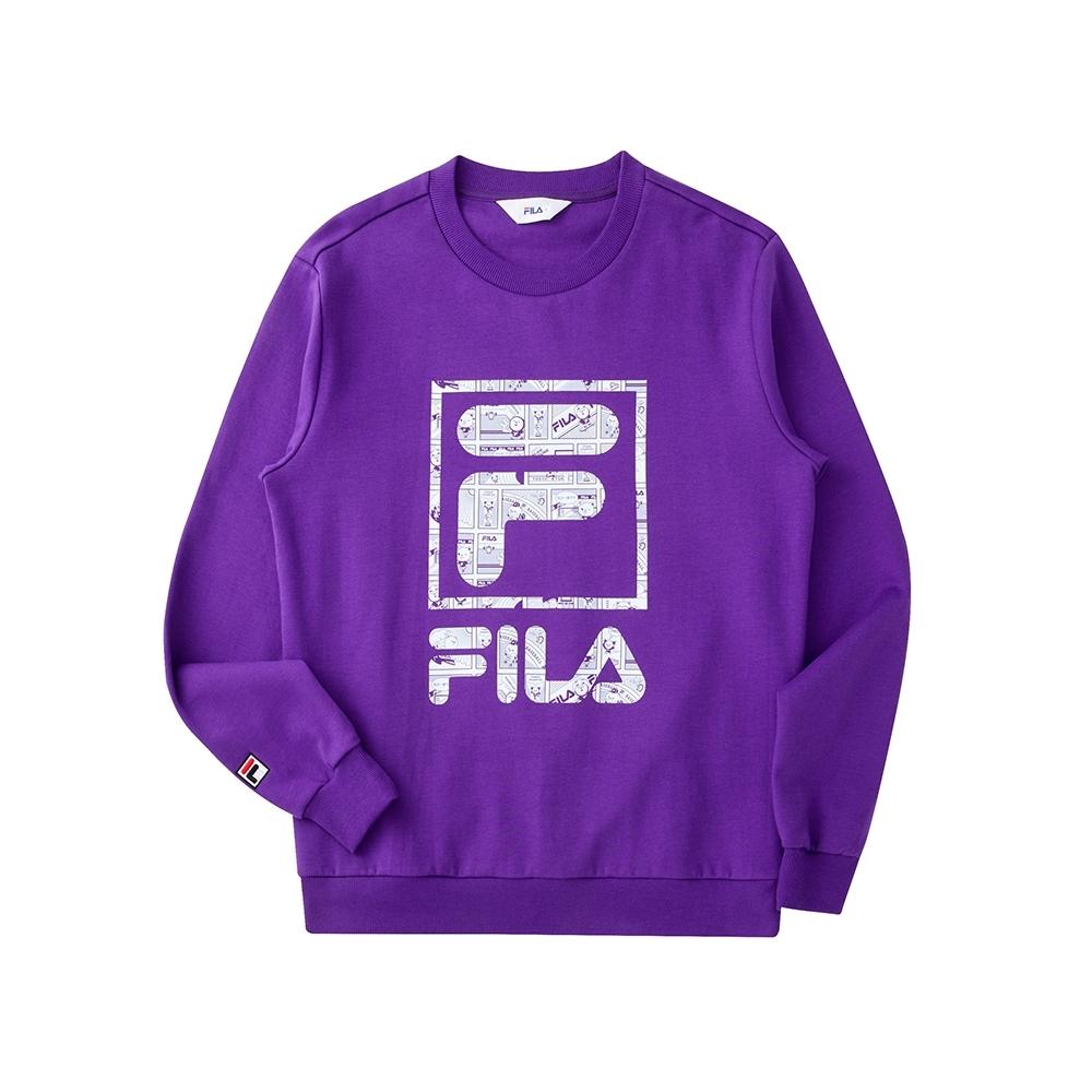 FILA 長袖圓領T恤-紫色 1TEU-5506-PL