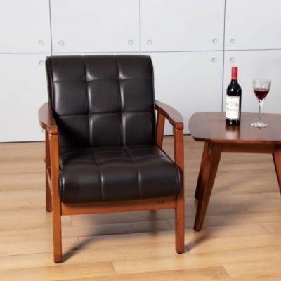 D&T 德泰傢俱 Chloe北歐復古風1人座沙發 -65x75x80 (cm)