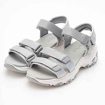 SKECHERS (女) 時尚休閒系列 DLITES 涼鞋 - 31514GRY