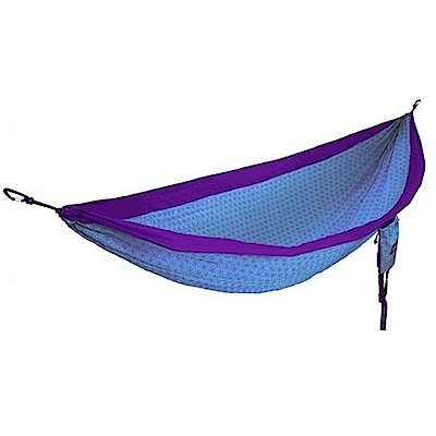 ENO DoubleNest Hammock 花漾生活雙人吊床 紫/藍綠色