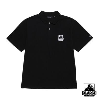 XLARGE EMBROIDERY OG POLO SHIRT 經典LOGO短袖POLO衫-黑