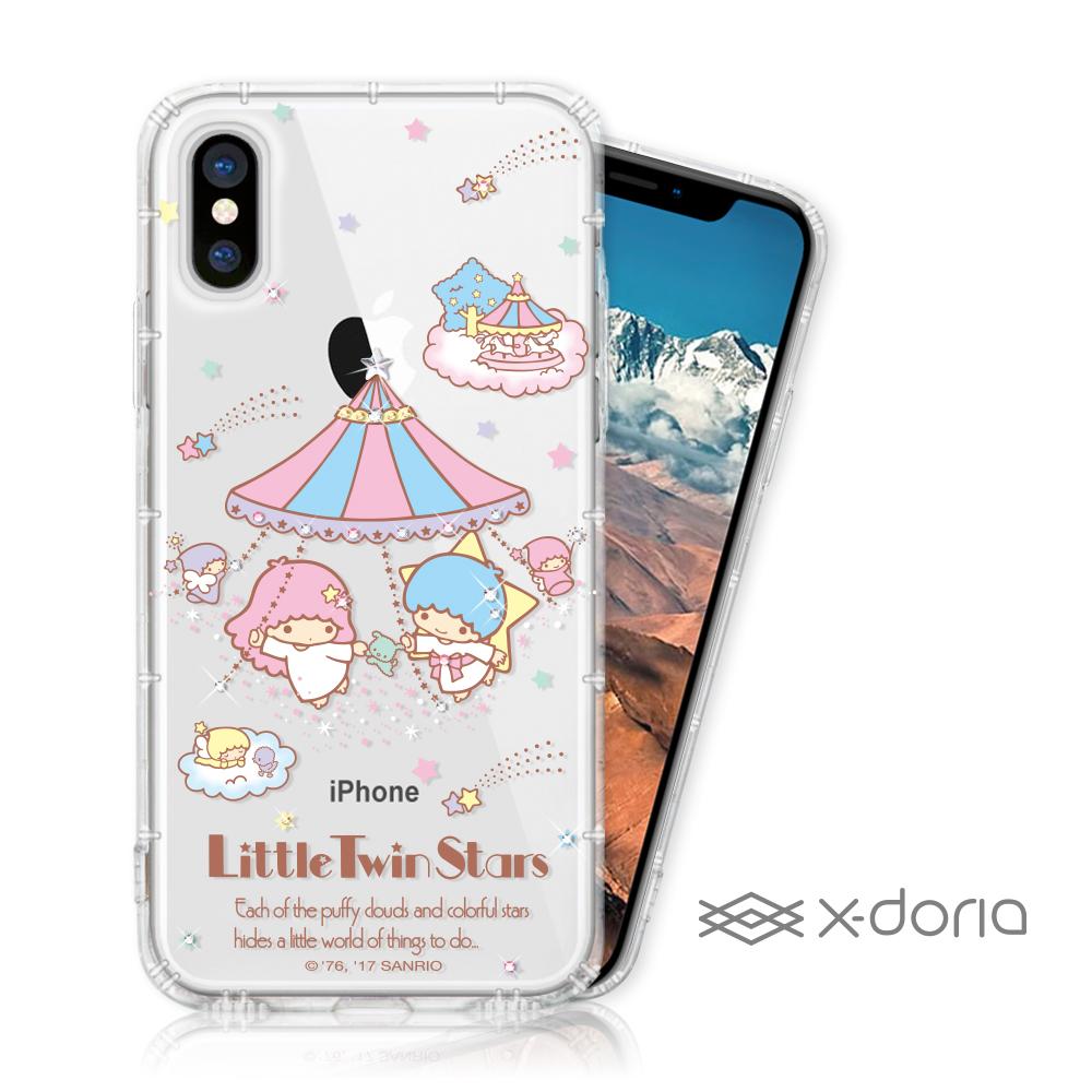 KikiLala 雙子星 iPhone X/Xs 彩繪水鑽手機空壓殼 - 跳舞