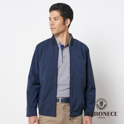 BARONECE 百諾禮士休閒商務  男裝 直條印花薄夾克外套--藍色(1186668-38)