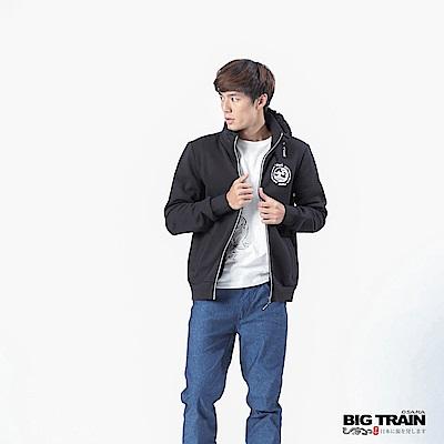 BIG TRAIN 雙層立領外套-男-黑色