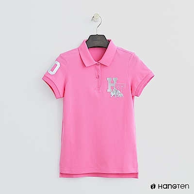 Hang Ten - 女裝 -logo刺繡POLO杉-粉