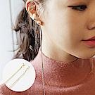 梨花HANA  韓國超長珍珠小金珠修飾臉型耳環必推