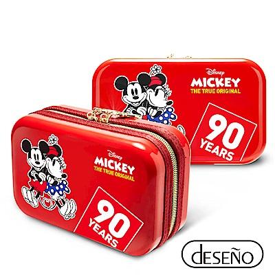 Disney 米奇系列90週年限量紀念航空硬殼包 愛心款-紅色