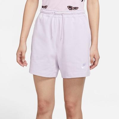 Nike NSW JSY HR SHORT 女短褲-淺紫-CJ3755511
