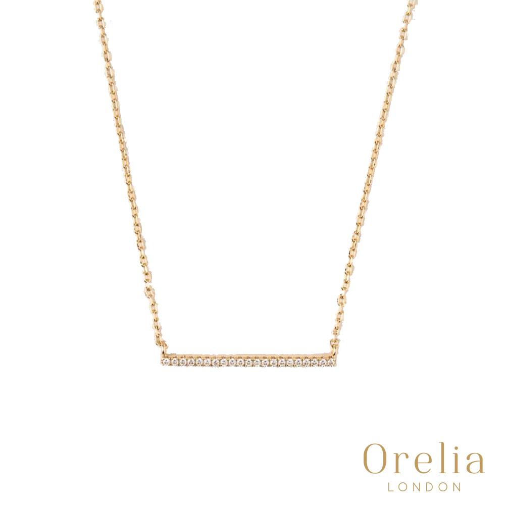 Orelia 英國倫敦 經典簡約水晶鍍金項鍊