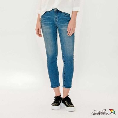Arnold Palmer-女裝-褲腳開岔合身牛仔褲-藍色